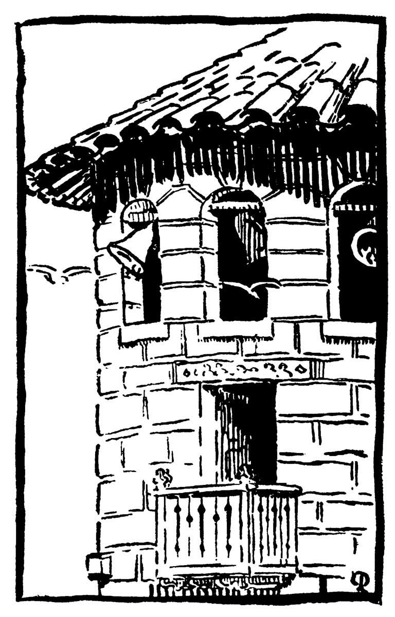 """LA TORRE – Dibujo de Pedro Prado publicado en su libro """"Los Diez"""" de 1915.Gentileza de Origo Ediciones"""