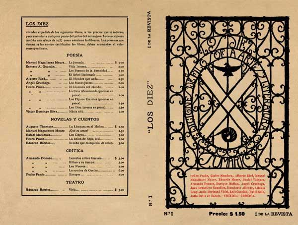 """Portada de la """"Revista Los Diez Número I"""", publicada por Ediciones LosDiez en 1916. Gentileza de Pedro Maino"""