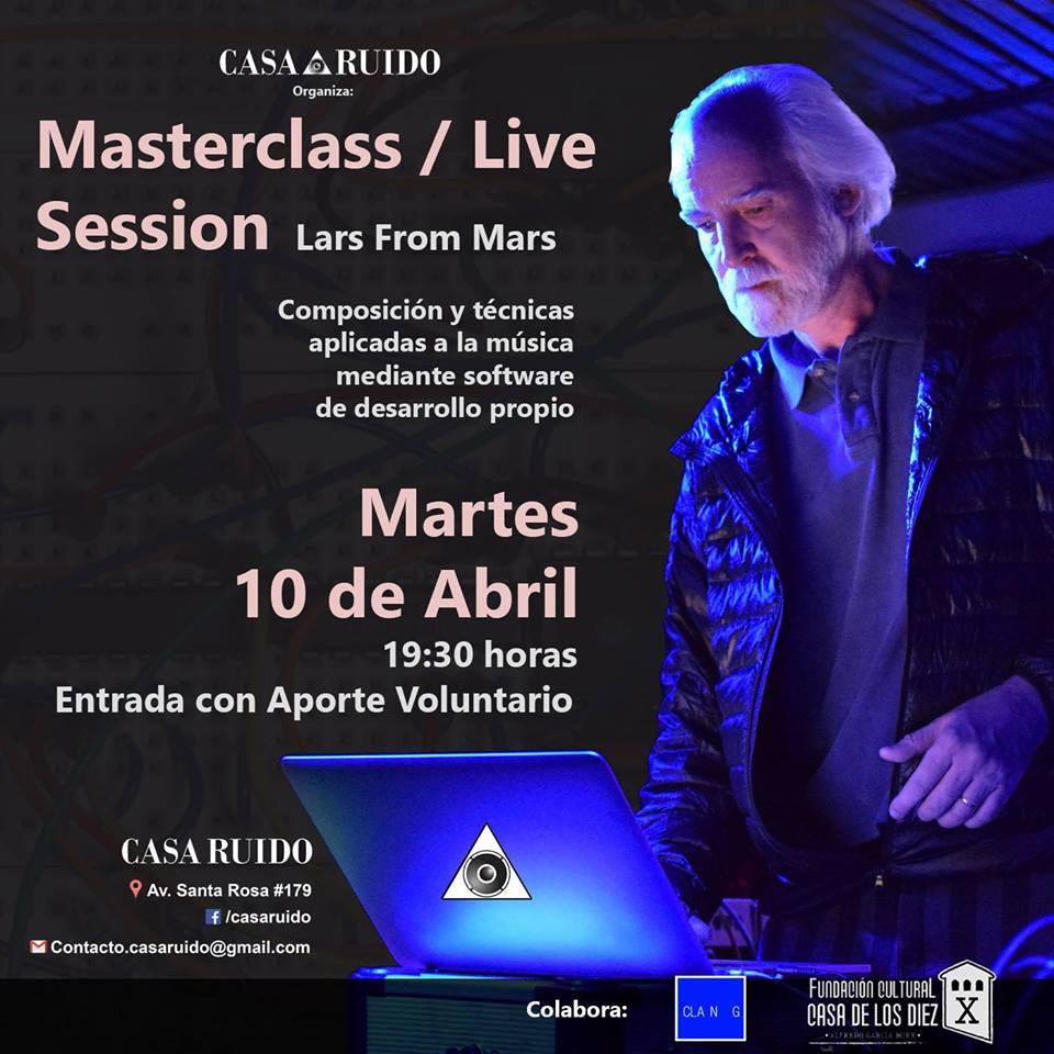 Master Class, Casa Ruido, Casa de Los Diez, música, sintetizador