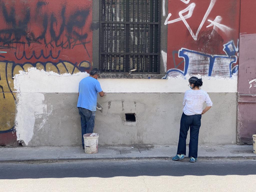 restauración muro